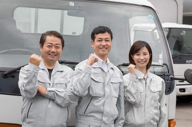 作業着の業者チーム