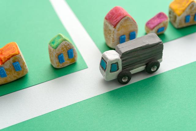 トラックと道路